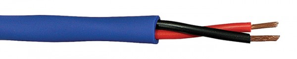 Speaker cable for 100 V line systems 2x1,5 mm2