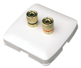 Terminal banana plug 2× female on the wall