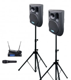 2× BC 800A + MBD 840 + MD 505 speakers set with microphones