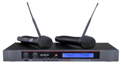 MBD 832 diversity wireless hand-held microphone, 2-channel to rack