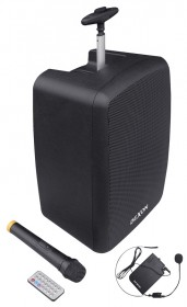WA 410RC speaker system with hand and headset wireless microphone