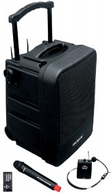 WA 450RC speaker system with hand and headset wireless microphone