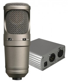 MC 700 + HZ 50 set of condenser studio microphone and phantom power source