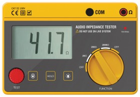 Impedance measurer for speaker audio lines